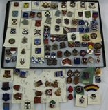 125pcs-WW2 Period U.S. Regimental Distinctive Insignia-All Screw Back-Some With Maker