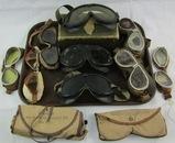 Lot Misc. WW2 Period Goggles-Lens-Luftwaffe Pilot Goggles
