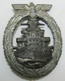 WW2 German Kreigsmarine High Seas Fleet Badge By Schwerin