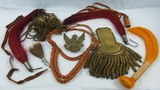 Misc. Lot Indian Wars/Span-AM war U.S. Shako Plumes-Portapees-Shoulder Board.
