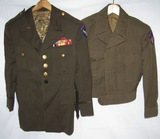 2pcs-Post War Army Air Force Ike Jacket-Early USAF 4 Pocket Tunic W/Early USAF Gold Buttons