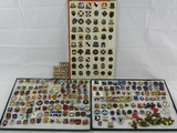 Large Lot 268 Pieces U.S. Regimental Distinctive Insignia-All are Clutch Back