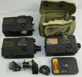 Nice Lot WW2 Era USN 16mm Gun Cameras With Lens Accessories
