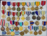 34pcs-Misc U.S. Military Medals-WW2 To Current
