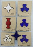 7pcs-Spanish American War Enameled Corp Badges