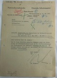 NSDAP Letter Head Document To Reichsminister Lammers-Signed By Bormann