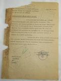 Typed Letter Concerning Jewish Assets Signed By Obergruppenfuhrer Reinhard Heydrich