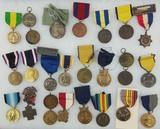 26pcs-Misc Span-Am-WW1-WW2 U.S. Medals