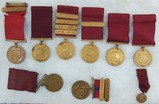 9pcs-USN/USMC Good Conduct Medals-Named-USS Ranger/USS Texas/1932-34/1945-48 Dates