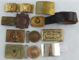 12pcs-Misc. U.S. Military Belt Buckles-Gypsy Tour Buckle With Belt