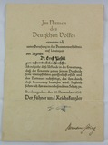 WW2 German Professor Appointment Document With Original Goring Signature