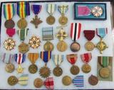 26pcs-Misc. U.S. Army/USAF/USMC Etc. Medals