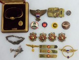20pcs-Misc US Homefront Jewelry-Tie Clasps-Pins Etc.