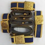 7pcs-US Army Officer's Dress Brocade Belts With Buckle.