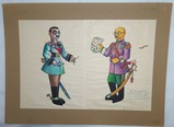 WW2 US Original Artwork-Japanese Satire-Artist Signed 1944