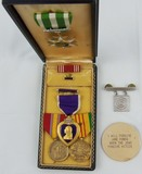 Vietnam War Period Purple Heart Medal Grouping-Un-Named-Jane Fonda Button