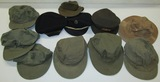 11pcs-WW2/Korean War Field Caps-USN-WAC-USMC-US Army-Coast Guard-Jeep Cap