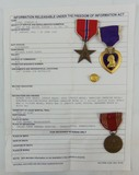 Named WW2 Medal Grouping-WIA Purple Heart-Bronze Star-GC Medal