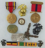 WW2 USMC Named Medal/Insignia Grouping.