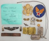 WW2 Army Air Corp Pilot Named Insignia Grouping-Pilot Wings-Dog Tags Etc.