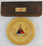 2pcs-WW2 US Trench Art Bowl And Red Cross Box Recovered From Bergen-Belsen Camp