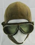 Early Aviator/Barnstormer Flight Cap With Goggles