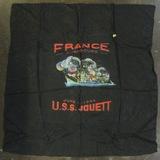 WW2 D-Day +2 USN Sailor Art On Silk Cloth DD-396 USS JOUETT Destroyer