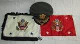 3pcs-Post Korea/Pre Vietnam War Named U.S. Army General's Visor Cap-4 Star Embroidery