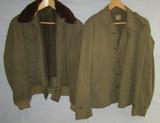 2PCS-WW2 Period U.S.  B-15 Flight And M41 Field Jackets
