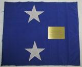 Vietnam War Period US Navy Rear Admiral 2 Star Flag Plaque Presentation.
