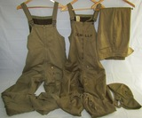 4pcs-WW2 U.S. Tanker Overalls/Tanker Cap/Plain Style Winter Pants