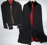 2pcs-Late WW2/Early Vietnam Period USMC Officer's Dress Mess Jacket W/Pants-Colonel-Boat Cape