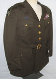WW2 104th Infantry Division Officer's Class A Uniform With Sewn Ribbon Bars