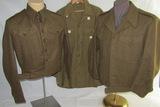 3PCS- WW2 British M1940 Battle Dress/British Made USA ETO Jacket/Wool Combat Shirt W/Cutter Tags