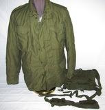 2pcs-Vietnam War Period M65 Field Jacket W/Liner-Early M14 Ammo Clip Bandoleer