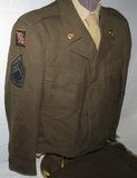 Scarce WW2 Special Order Size 48R Ike Jacket-36 X 35 Pants-Size 17 Shirt-1st Army Grp/GHQ