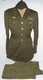 WW2 U.S. 11th Army Air Corp Air Gunner Class A Tunic With Pants/Shirt/Tie/Overseas Cap