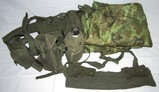 3pcs-Vietnam Period Erdl Pattern Rayon Poncho Liner/Blanket-Combat Belt Rig-M14 Bandoleer
