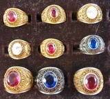 9pcs Misc. US Army Class Rings