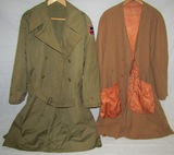 Rare English Made WW2 U.S. Officer's ETO Overcoat (Trench Coat) W/Liner. Dated 1943-69th Division
