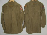 2pcs-WW2 U.S. Enlisted Shirts-N. Africa Theater Patch W/Ranger Tab-Persian Gulf Photographer