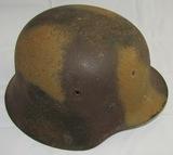 2 Color Mediterranean Camo M42 German Helmet With Liner