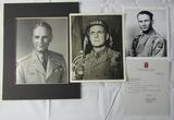 3 Original Signatures Of WW2 U.S.  Airborne Commanding Generals-Gavin-Ridgeway-Taylor