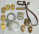 11pcs-Corp Of Engineers Badges-SING SING Prison Guard Badge-Handcuffs/Whistle Etc.
