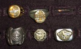 5pcs-Misc WW2 Military Men's Rings-Maritme Service-USN AAC-Ruptured Duck