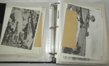 Large Binder With 250+ WW2 Press Photos Etc.