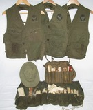 6pcs-WW2 U.S. C-1 Survival Vests-HBT Sun Hat-Survival Fishing Kits