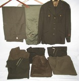 9pcs-WW2 Period U.S. Women's Pants/Skirts-5th AAF Jacket
