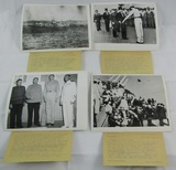 4pcs Original WW2 Japanese Surrender Press Photos