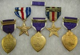 6pcs-Engraved/Commemorative/Reunion Purple Heart/silver Star Medals